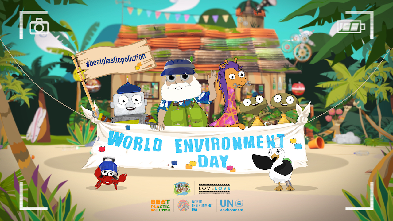 bottle island world environment day poster v02